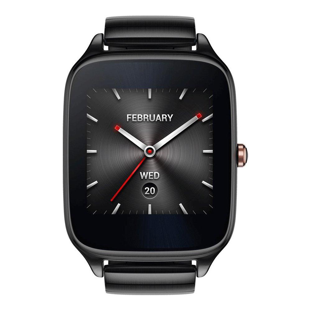 ASUS ZenWatch 2 WI501Q (BQC) Smart Watch - International Stock - Gunmetal Case with Grey Metal Band