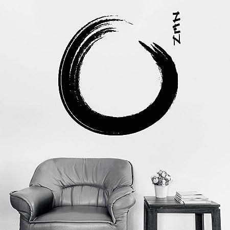 YuanMinglu Tatuajes de Pared Vinilo Zen caligrafía Budista círculo ...