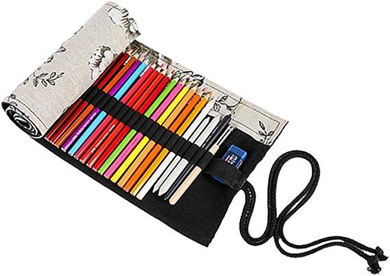 Gofeibao Estuche Colores Estuche Enrollable Lápiz Caso Lápiz Casos Chicas Lápiz lápiz Abrigo Bolsa de lápiz 72: Amazon.es: Hogar