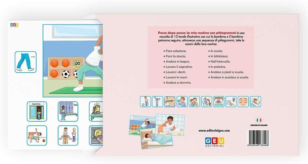 Editorial GEU Passo Dopo Passo Versione Maschio LA MIA Routine con PITTOGRAMMI