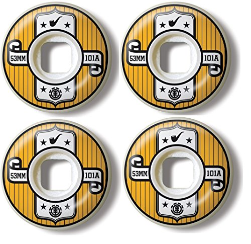 (Element Skateboard Wheels 53MM 101A Represent Set of 4)