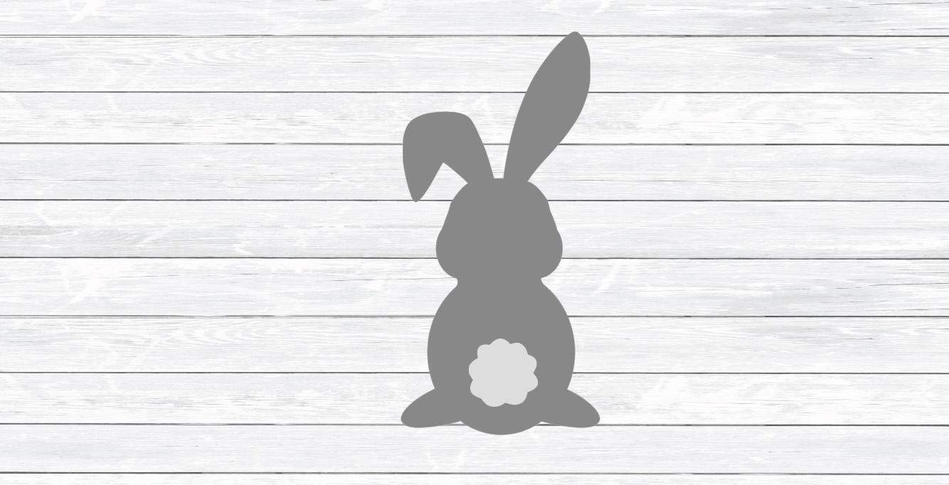 graphic about Bunny Silhouette Printable referred to as : Moira Easter Bunny vinly Decal for Rabbit Cotton