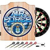 US Air Force Design Deluxe Solid Wood Cabinet Complete Dart Set