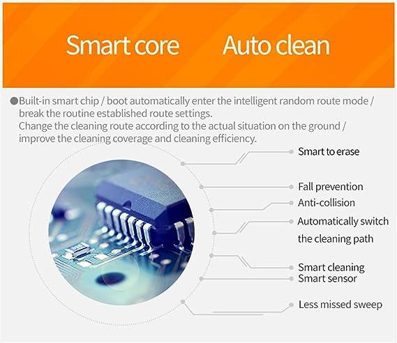 Lecc Robot de Barrido doméstico, 3 Modos Limpieza Aspirador Inteligente Completamente automático, succión Grande, tecnología detección caída alfombras ...