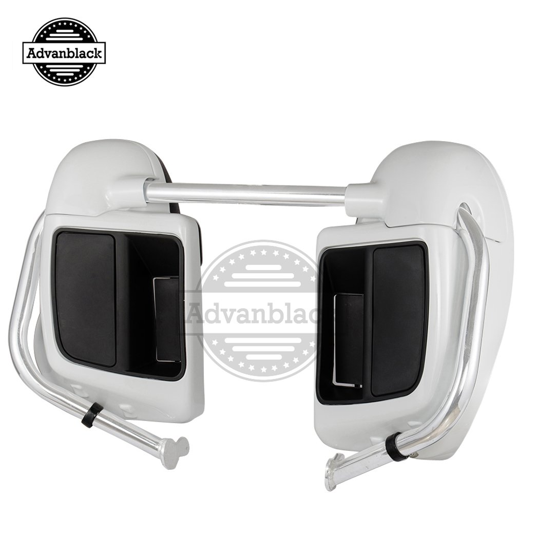 Amazon.com: Rushmore Crushed Ice Pearl Lower Vented Fairings Kits Leg Warmers Glove Box Fit for Harley Davidson Touring Street Glide Road King Road Glide ...