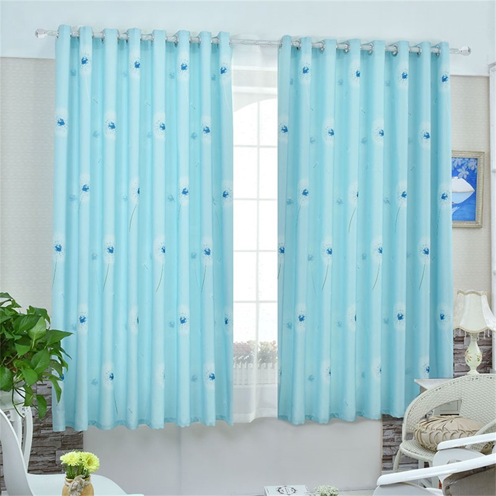 TIANTA- A Set Of 2 Pcs Bedroom Living Room Balcony Thickening Shading Imitation Cotton Linen Curtain Double-sided Pattern Simple Modern Finished Product decorate ( Size : 2.42m (widthheight) )