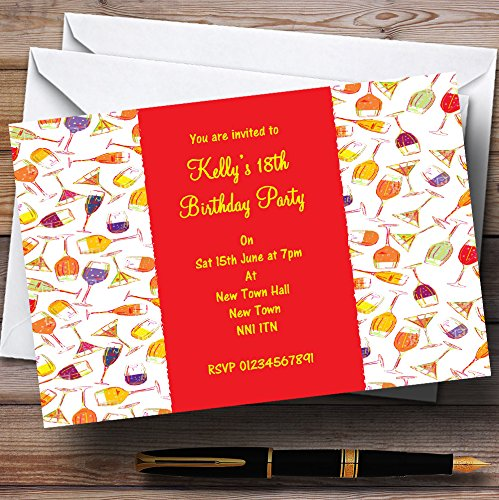 Cocktail Wine Champagne Personalized Party Invitations
