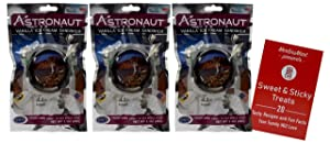 Astronaut Freeze-Dried Ice Cream Sandwich Space Food | Ready to Eat | Vanilla Flavor - Pack of 3 | Plus Recipe Booklet Bundle (1 Ounce)