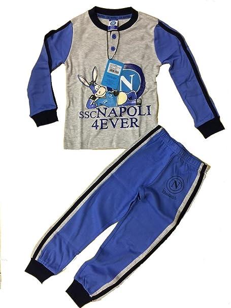 Pijama infantil Napoli Fútbol de 3 a 8 años azul o gris * 03709 Mezcla de