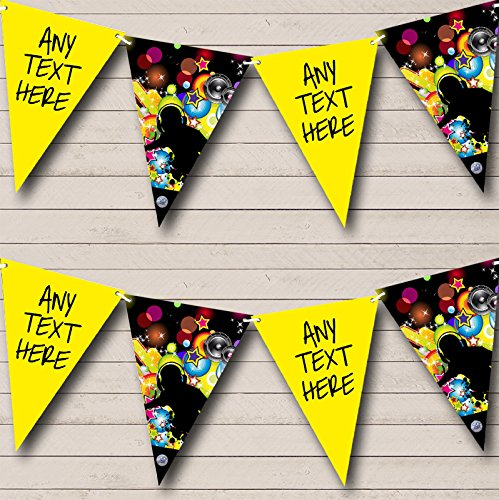Disco Night Fever 60's 70's 80's Personalized Birthday Party Bunting Flags Banner