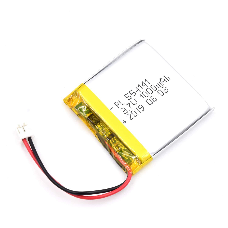 Bateria Lipo 3.7V 1000mAh 554141 Recargable JST Conector