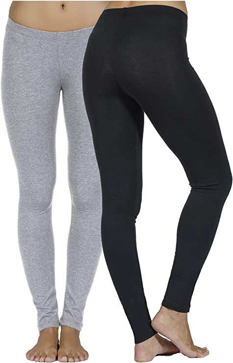 In Touch Leggings de algodón y Licra para Mujer: Leggings Suaves ...