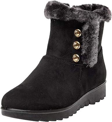 Womens Winter Waterproof Zip Short Snow Boots Ladies Footwear Warm Shoes by Sopzxclim