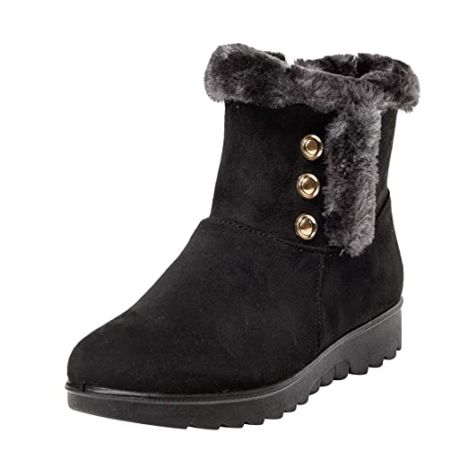 d4d85414f4b Sunsee 2019 Christmas Promotion Women s Ladies Winter Ankle Martin Short Snow  Boots Fur Footwear Warm Shoes