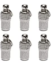 KnR Harmony Pet ID Tube Tag Barrel 6 Pack Address Name Label for Cat Dog Puppy Collar Anti Lost Stainless Steel