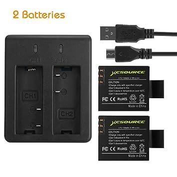2X1100mAh Recargable Batería Auxiliar + USB Doble Cargador Batería Acción Batería de Cámara Batería Compatible Para SJ4000 SJ5000 SJ6000 SJ7000 SJ8000 ...