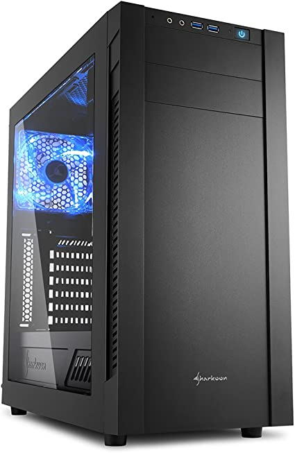 Sharkoon s25-w - Caja de Ordenador, pc Gaming, semitorre ATX, Negro.: Sharkoon: Amazon.es: Informática