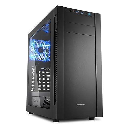 9 opinioni per Sharkoon S25-W Midi-Tower Black computer case- computer cases (Midi-Tower, PC,