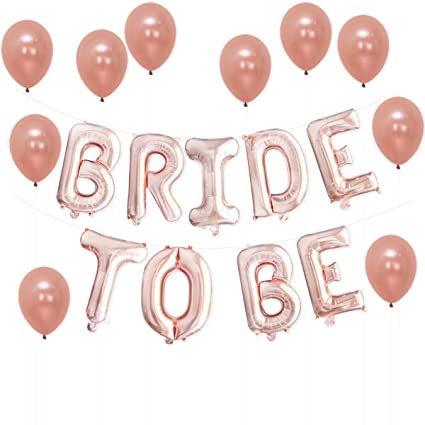 katchon bride to be rose gold bridal shower decorations great for bridal shower party