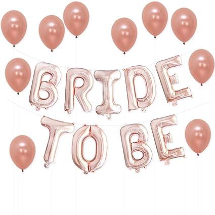 amazon com katchon bride to be rose gold bridal shower decorations