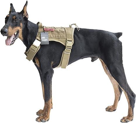 OneTigris Chaleco táctico de Servicio para Perro, Resistente al ...