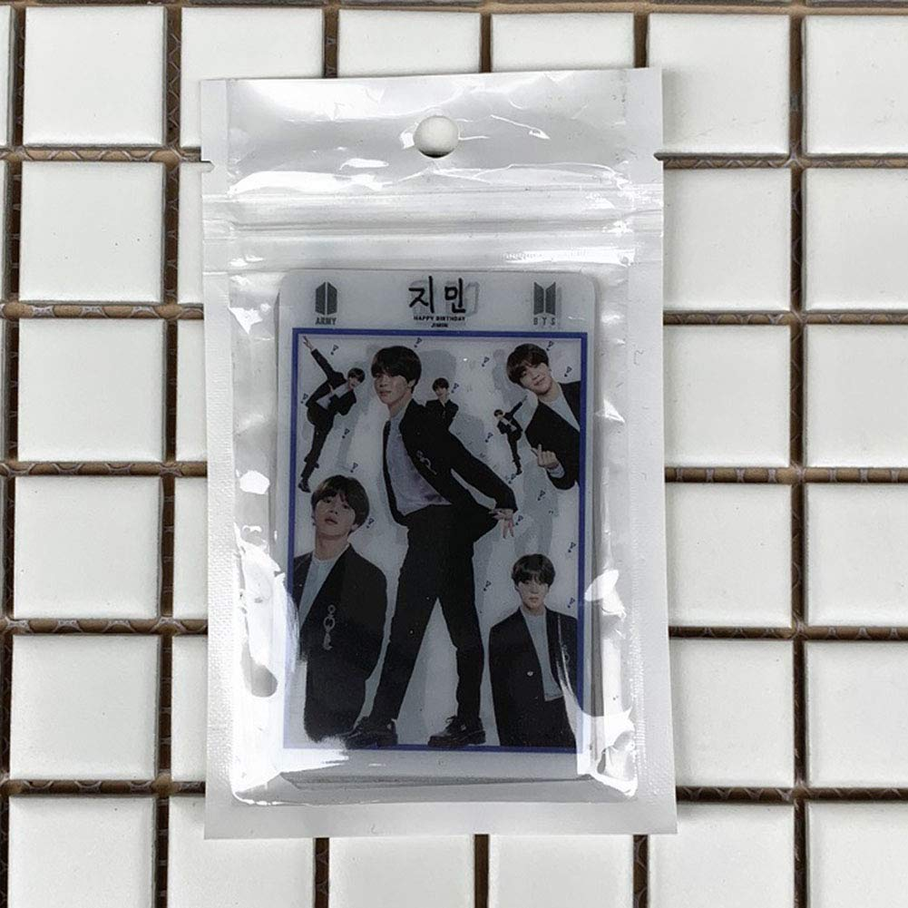 CAR-TOBBY 7pcs//set Kpop BTS Transparent Cards Bangtan Boys Suga Jimin Photo