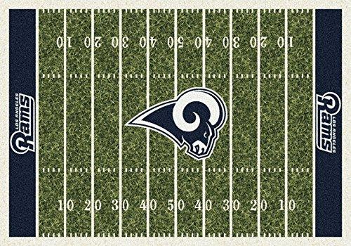 Los Angeles Rams NFL Team Home Field Area Rug by Milliken, 5'4