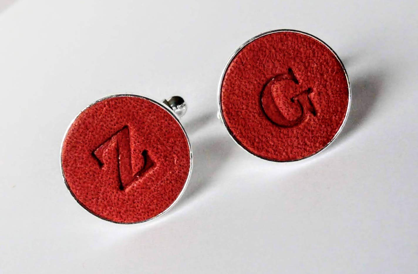 Personalized Cufflinks Gift for Him Leather cufflinks Anniversary Gift Personalized Present