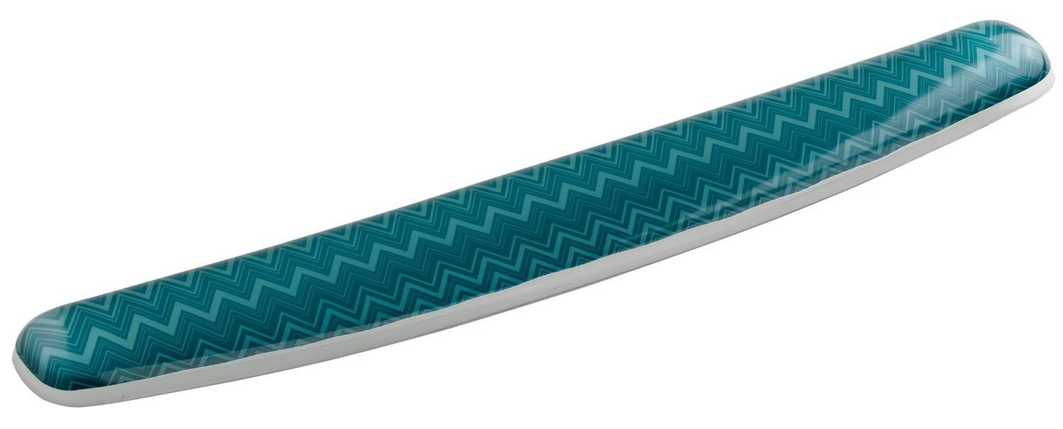 3M Gel Wrist Rest for Keyboards, Soothing Gel Comfort with Durable, Easy to Clean Cover, 18, Fun Chevron Design (WR308-GR) 18 3M Canada Company - HPC