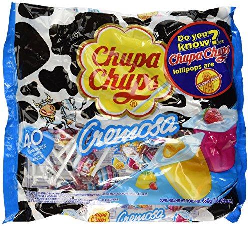 Chupa Chups Cremosa Yogurt Lollipops, 16.93 oz Bags in a BlackTie Box (Pack of 2)