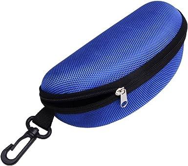 2Green-1Black Sunglasses Case,(3Pack)RayLove Portable Travel Zipper Eyeglasses Case Hook