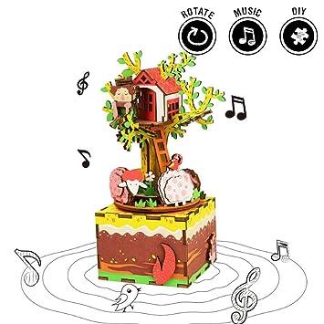 Winni43julian 2 In 1 Music Box Und Diy Spielzeug Wood Diy Geschenke