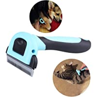 """Pet Grooming Tool & Pet Grooming Brush- For Small, Medium & Large Dogs + Cats+Rabbits, With Short to Long Hair. Dramatically Reduces Shedding In Minutes- by Ledafei (5.12""""x2.60"""", Blue)"""