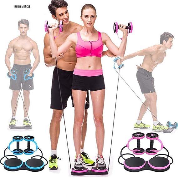 Rueda Bdominal Rueda De Rodillo Multifuncional Para Ejercicios De Fitness AB Para Ejercicios Abdominales Equipo De Ejercicios Para Entrenamiento Con Pesas, ...