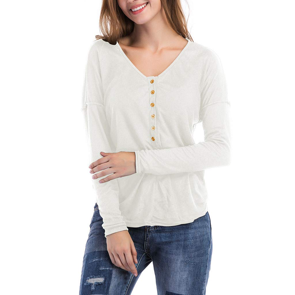 Pandaie Womens Long Sleeve Tops,Women Casual Versatile Slim Bottom Knitting Shirts Autumn T Shirt