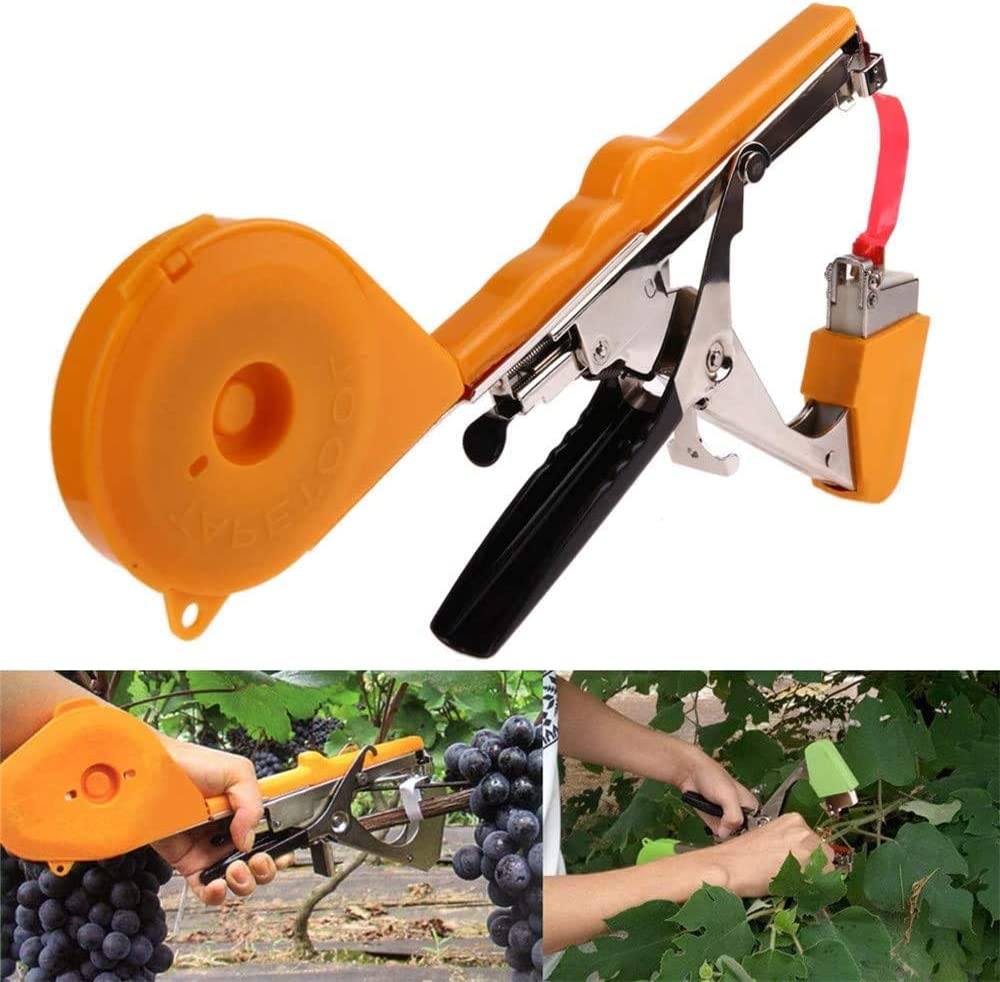 LQKYWNA Plant Tying Tapetool Tomato Vineyard Hand Tying Machine Binding Garden Vegetables Grass Tapener for Cucumber
