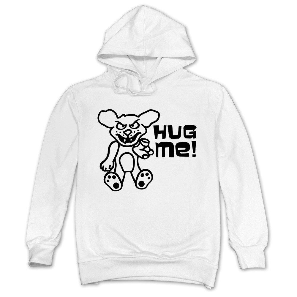 ReBorn Mens Casual Hug Me Bear Pullover White