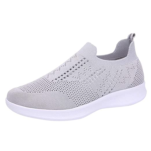 b1a2c873c7642 Amazon.com: Hurrybuy Women's Slip On Sneakers - Casual Mesh Athletic ...
