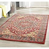 Safavieh Mahal Collection MAH621C Traditional Oriental Navy and Red Area Rug (3′ x 5′)