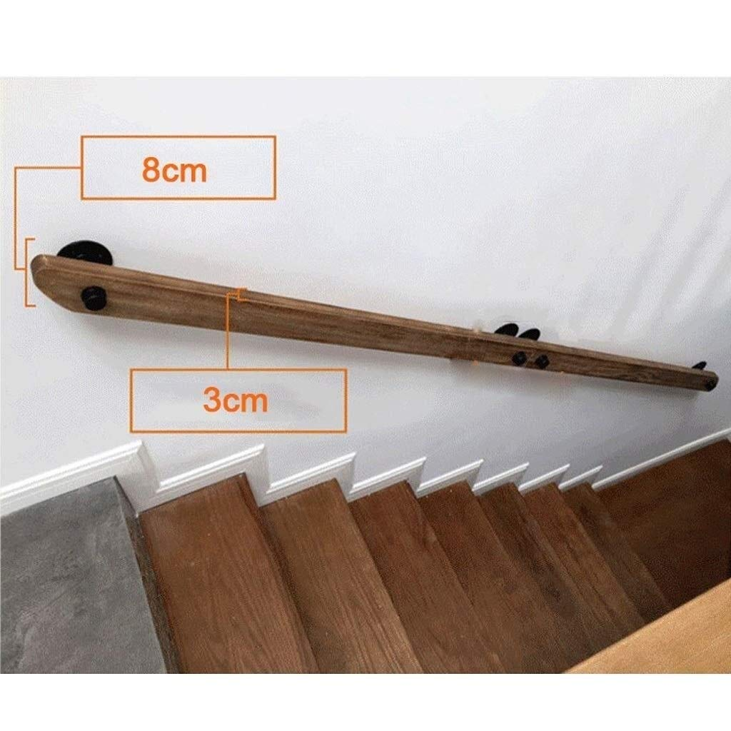 XXStair Stair Railing Banister,Safety Support Hand Rails for Pregnancy Walking Stairs Indoor Villa with Wall Bracket Size : 100cm