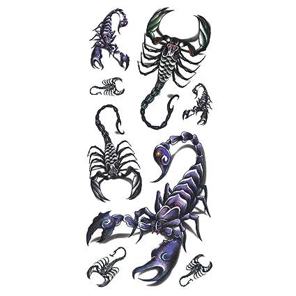 COKOHAPPY Temporales Tatuaje Escorpión: Amazon.es: Belleza