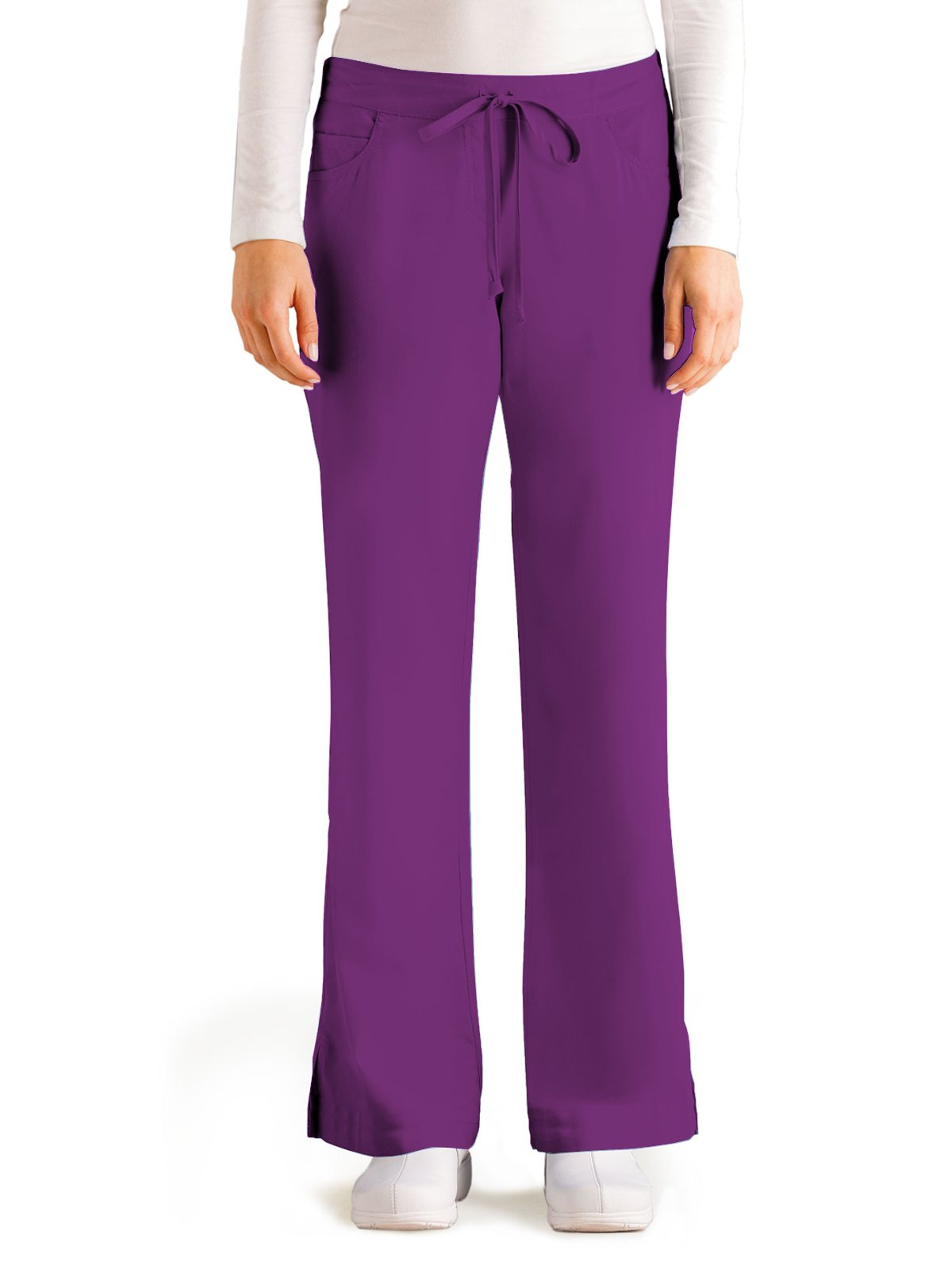 Grey's Anatomy 4232 Tie Front Pant Very Berry M Tall