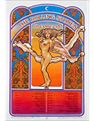 Rolling Stones 1969 Tour Poster Full-Sized Artist Edition Signed by David Byrd Includes signed COA