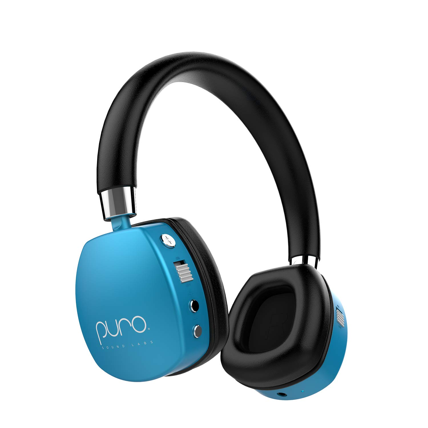 Puro Sound Labs PuroQuiet Kids Volume-Limiting Noise-Cancelling On-Ear Wireless Headphones (Blue) by Puro Sound Labs