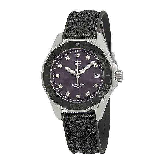 Tag Heuer Aquaracer - Reloj para mujer con esfera de diamante de nácar color negro WAY131M.FT6092: Amazon.es: Relojes