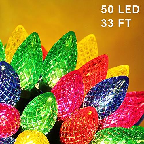 100 Bulb Multi Color Miniature Led Christmas Light Set in US - 2