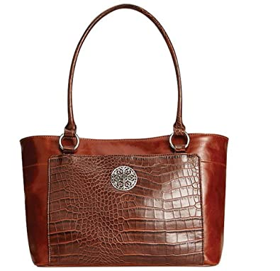 Amazon.com  Giani Bernini Glazed Leather Filigree Tote  Shoes