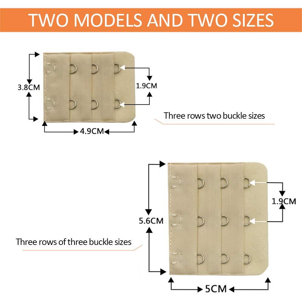 ZEVONDA 20 Pieces Bra Strap Extenders 2 Hooks /& 3 Hooks Bra Extensions Strap Women Lingerie Bra Accessories