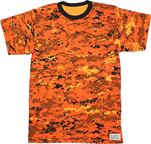 Army Universe Orange Digital Camouflage Short Sleeve T-Shirt Pin - Size  3X-Large b1e1c91b82b