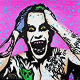 MR.BABES - ''Suicide Squad: The Joker (Jared Leto)'' - Original Pop Art Painting - Comic Book Movie Portrait